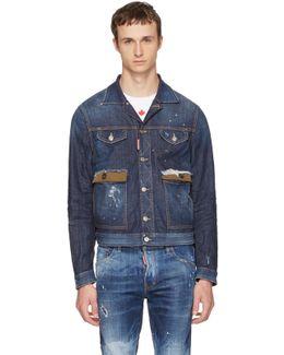 Blue Denim Red Spots Jacket