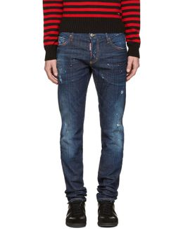 Blue & Red Slim Jeans