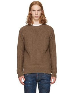 Brown Amish Sweater