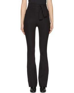 Black Flared Legging Trousers