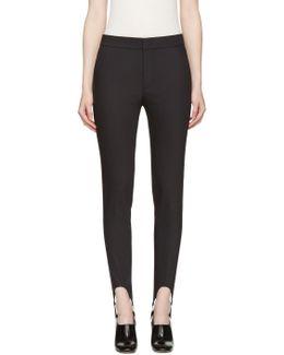 Black Stirrup Trousers
