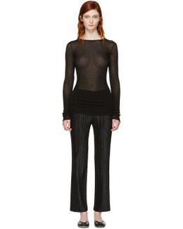 Black Drawstring Pullover