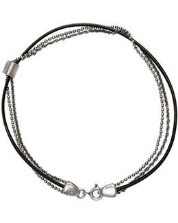 Silver & Black Double Bracelet