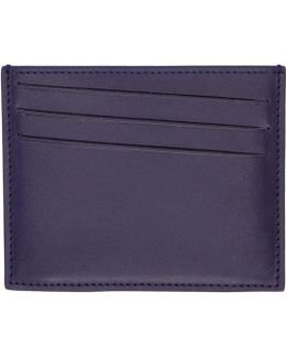 Indigo Leather Card Holder
