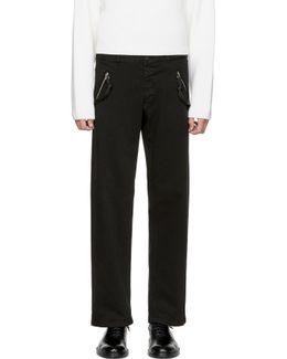 Black Zipper Jeans