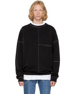 Black Panelled Sweatshirt