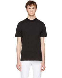 Black Knit Crewneck T-shirt