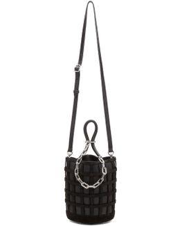 Black Roxy Cage Bucket Bag