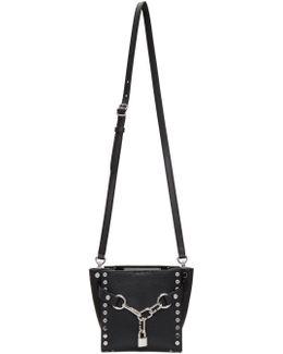 Black Studded Mini Attica Chain Satchel