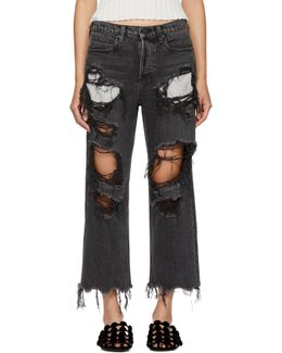 Grey Distressed Rival Jeans