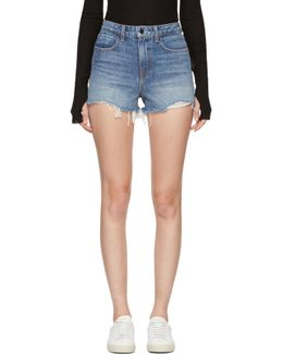 Indigo Denim Bite Shorts