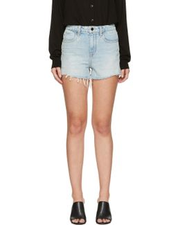 Blue Denim Bite Shorts