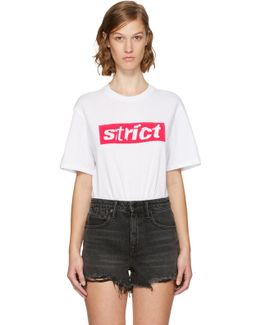 White Boxy Crewneck 'strict' T-shirt