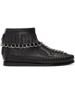 Black Montana Moccasin High-top Sneakers