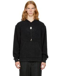 Black Fleece 'classic Black' Bolo Tie Hoodie