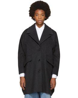 Grey Felted Wool Coat