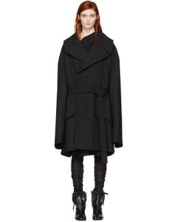 Black Oversized Wool Coat