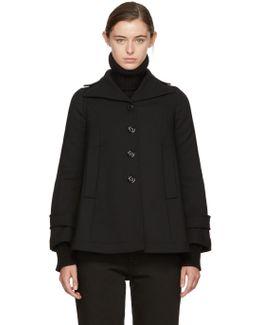 Black Wool Swing Coat