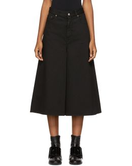 Black Denim Culottes