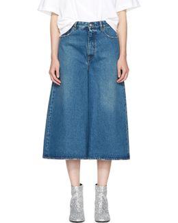 Indigo Cropped Wide-leg Jeans