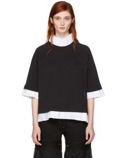 Black Mock Layered Sweatshirt