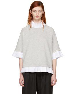 Grey Mock Layered Sweatshirt