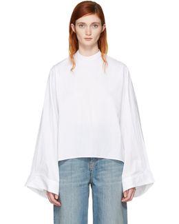 White Poplin Parachute Shirt