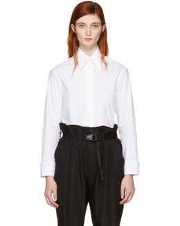 White Convertible Double Collar Shirt