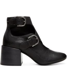 Black Cut-out Boots