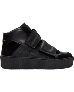 Black Platform High-top Sneakers