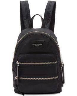 Black Mini Biker Backpack