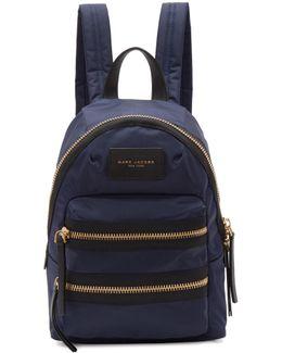 Navy Mini Biker Backpack