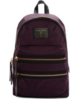Purple Nylon Biker Backpack