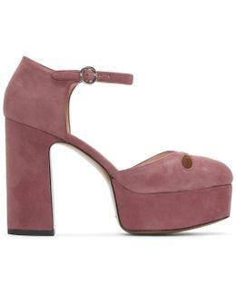 Pink Suede Lucille Platform Heels