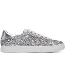 Silver Glitter Empire Sneakers