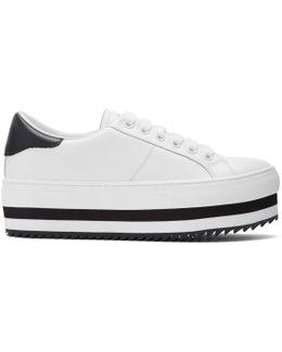 White Grand Platform Sneakers