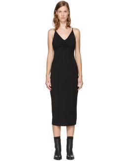 Black Shirred Cami Dress