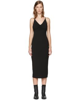 Black Shirred Cami Dress