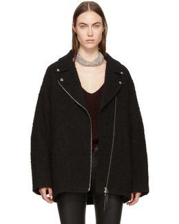Black Asymmetric Zip Coat