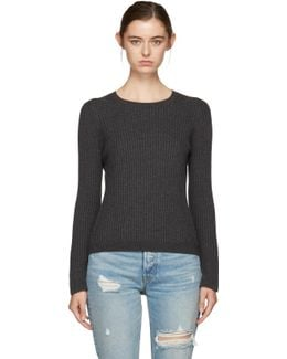 Grey Hook Eye Crewneck Sweater