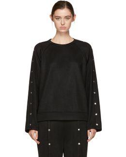 Black Snaps Sweatshirt