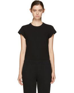 Black Cap Sleeve Fitted Bodysuit