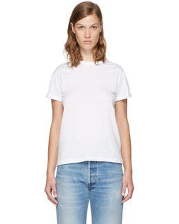 White Superfine Jersey Crewneck T-shirt