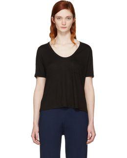 Black Classic Cropped Pocket T-shirt