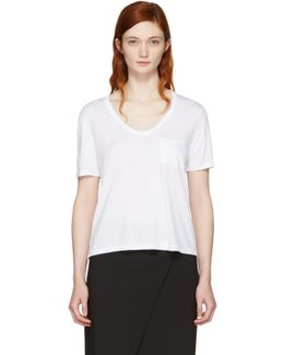White Classic Cropped Pocket T-shirt