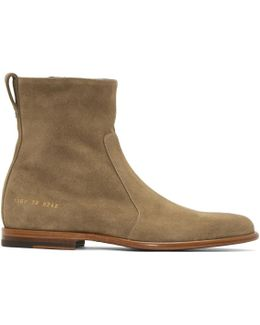 Taupe Common Projects Edition Chelsea Boots