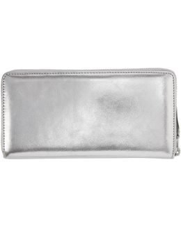 Silver Continental Wallet