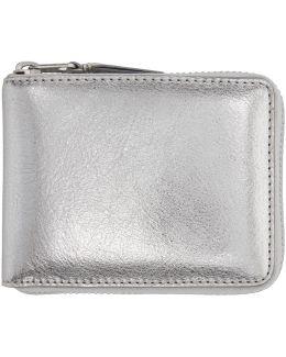 Silver Zip-around Wallet