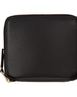 Black Classic Zip Wallet
