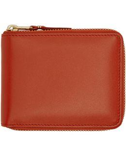 Orange Classic Zip Wallet